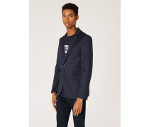 Slim-Fit Navy Buggy-Lined Blazer