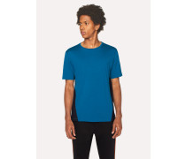 Blue T-Shirt With Black Panels