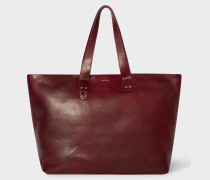 Burgundy Leather Holdall