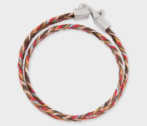 Multi-Coloured Woven Wrap Bracelet