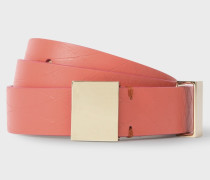 No.9 -  Pink Leather Belt