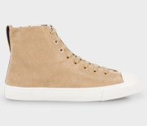 Sand Suede High-Top 'Allegra' Trainers
