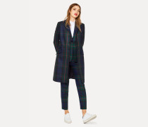 Navy, Green And Red Tartan Wool And Cashmere-Blend Epsom Coat