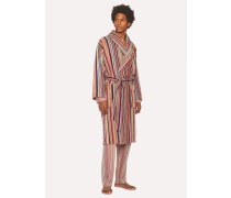 Signature Stripe Towelling Dressing Gown