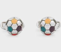 Multi-Colour Football Cufflinks