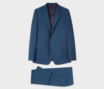 Tailored-Fit Prussian Blue Wool-Mohair Suit