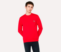 Red Organic-Cotton Zebra Logo Sweatshirt