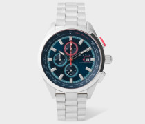 Petrol, Blue And Stainless Steel 'Chrono' Chronograph Watch