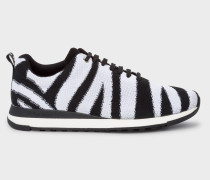 Zebra Stripe 'Rappid' Knitted Trainers