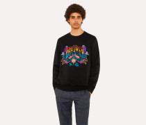 Black 'Dreamer' Embroidered Sweatshirt
