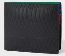 No.9 - Black Leather Billfold Wallet With Multi-Coloured Interior