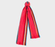 Pink 'Artist Stripe' Band Merino Wool Scarf