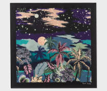 Black 'Midnight' Print Silk Pocket Square
