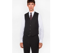 A Suit To Travel In - Tailored-Fit Charcoal Wool Waistcoat