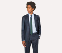 Tailored-Fit Dark Green Check Wool Blazer