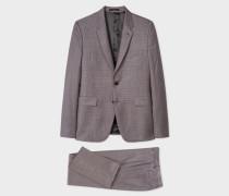 The Kensington - Slim-Fit Grey And Damson Glen Check Suit