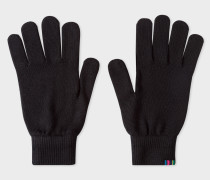 Black Lambswool Gloves