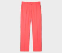 Slim-Fit Coral Wool-Hopsack Trousers