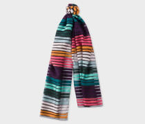 'Artist Stripe' Sheer Silk-Blend Scarf