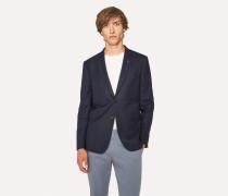 Slim-Fit Slate Blue Textured Wool Blazer