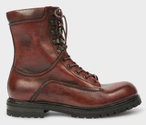 Burgundy Calf Leather 'Snow' Boots