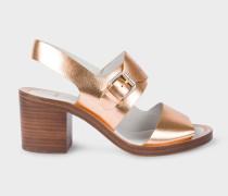 Metallic Leather 'Leven' Heeled Sandals