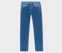 Slim-Standard Mid-Wash 12.5oz 'Rigid Western Twill' Denim Jeans