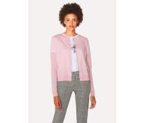 Light Pink Marl Wool-Blend Cardigan
