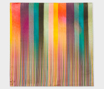 Mixed-Stripe Silk Pocket Square
