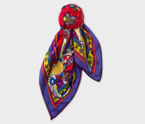 Multi-Coloured 'Karami Collage' Square Scarf