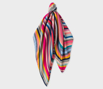 Multi-Colour 'Swirl' Silk Square Scarf