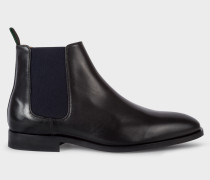 Black Smooth Calf Leather 'Gerald' Chelsea Boots