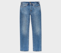 Standard-Fit Antique-Wash 12.5oz 'Rigid Western Twill' Denim Jeans