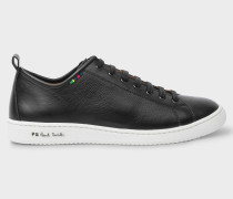 Black Calf Leather 'Miyata' Trainers