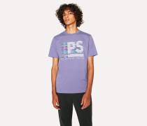 Light Purple 'PS Stripe' Print T-Shirt