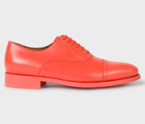 Fluro Coral Leather 'Bertie' Shoes