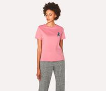 Pink Small 'Dino' Print Cotton T-Shirt