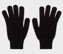 Black Cashmere-Blend Gloves