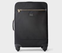 Black 'Signature Stripe' Canvas Four-Wheel Suitcase
