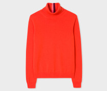 Poppy Red Cashmere Roll-Neck Sweater