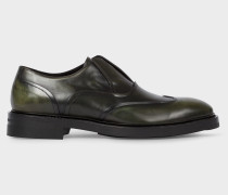 Dark Green 'Hicks' Laceless Leather Brogues