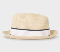 Straw Style Woven Trilby Hat