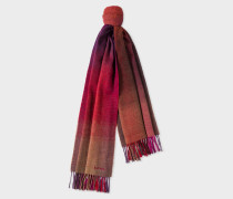 Red Gradient Lambswool Scarf