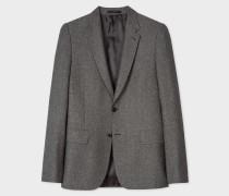 Tailored-Fit Grey Tweed Wool And Silk-Blend Blazer