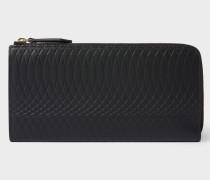No.9 -  Large Black Leather Zip-Around Purse