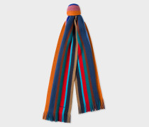 Multi-Coloured Stripe Wool Scarf
