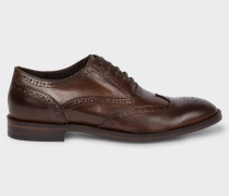 Brown Leather 'Munro' Flexible Travel Brogues