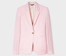 Light Pink One-Button Wool-Mohair Blazer