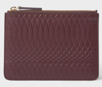No.9 - Damson Leather Zip Pouch