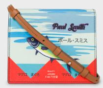 'Tuna' Print Leather Cross-Body Bag